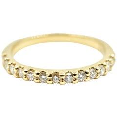 Diamond Wedding Band 14 Karat Yellow Gold