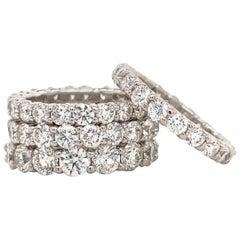 Diamond Wedding Band 3.00 Carat H SI1 14 Karat White Gold