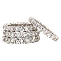 Diamond Wedding Band 4.63 Carat G-H VS2-SI1 Platinum