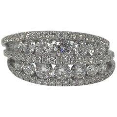 Diamond Wedding Band in 18 Karat White Gold