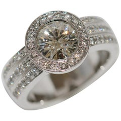 Diamond Wedding, Engagement Ring with Solitaire 2.1 Carat, IF, 18 Karat Gold