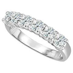 1.00 Carat Conflict Free Diamonds Shared Prong Diamond Wedding Ring 14 Karat