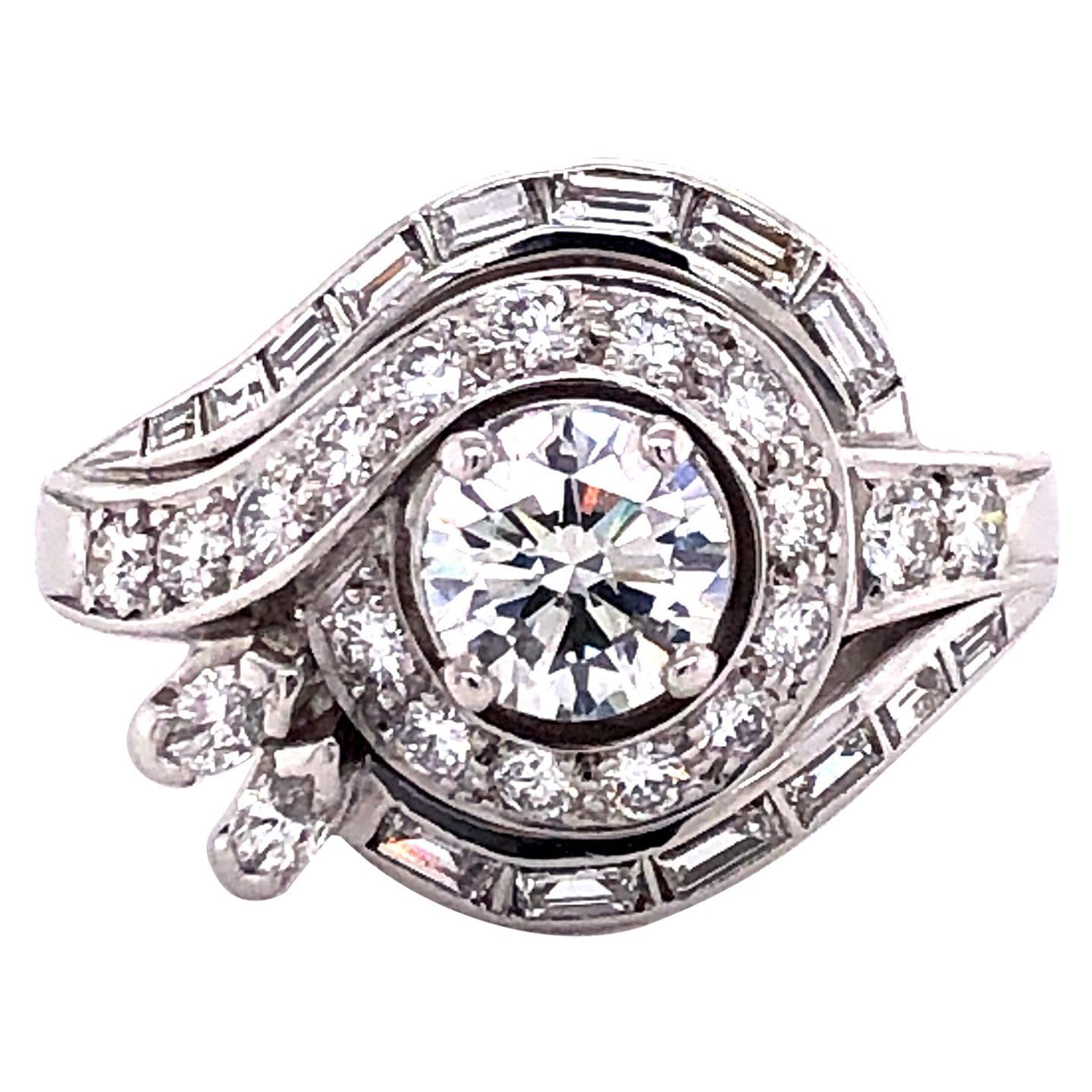 Diamond White Gold 750 Cocktail Ring