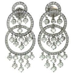 Diamond White Gold Chandelier Earrings