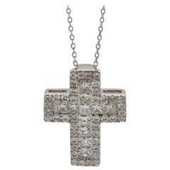 Diamond White Gold Cross