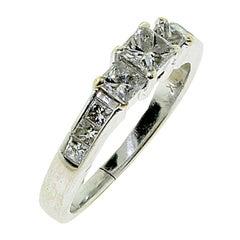 Diamond White Gold Engagement Band Wedding Ring