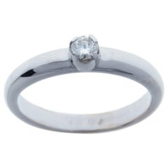 Diamond White Gold Engagement Ring Handcrafted in Italy by Botta Gioielli