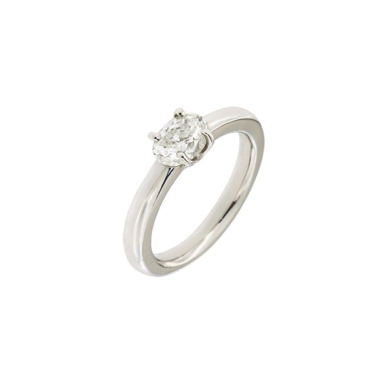 nuovo design amazon 100% genuino Diamond White Gold Engagement Ring Handcrafted in Italy by Botta Gioielli