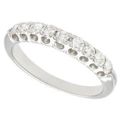 Diamond White Gold Half Eternity Ring, circa 1970