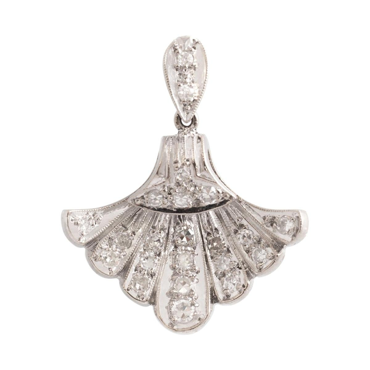 Diamond White Gold Pendant