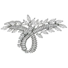 Diamond White Gold Pin