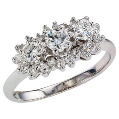 Diamond White Gold Three-Stone Ring
