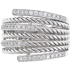 Diamond Wide Multi Row Ladies Band