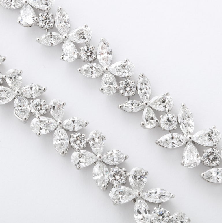 Women's or Men's Diamond Wreath Necklace For Sale