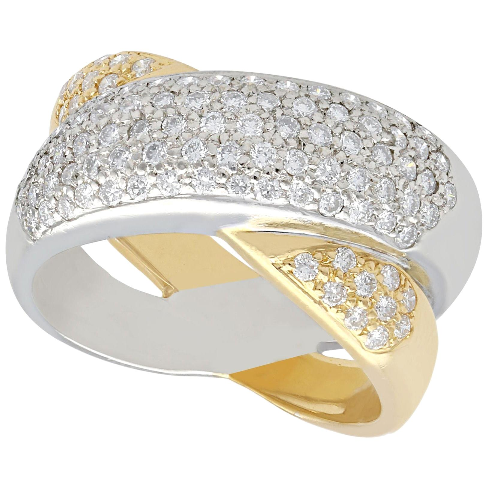 Diamond Yellow and White Gold Cocktail Ring