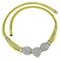 Diamond Yellow and White Gold Necklace