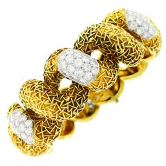 Diamond Yellow Gold Bracelet by Wander, Paris