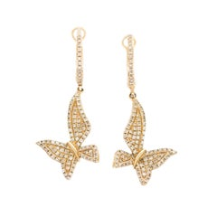 Diamond Yellow Gold Earring