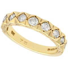 Diamond Yellow Gold Half Eternity Ring