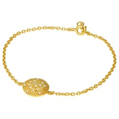 Diamond Yellow Gold Plate Bracelet Love Heart Diamonds in the Sky Planet