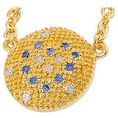 Diamond Yellow Gold Plate Pendant Necklace Magic Love Heart DIAMONDS in the SKY