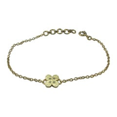 Diamond Yellow Gold-Plated Flower Bracelet, Diamonds in the Sky Bellessort