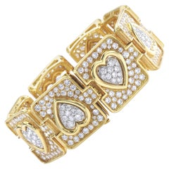 Diamond Yellow Gold Platinum Bracelet