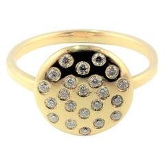 Diamond 18 kt Yellow Gold Ring Love Heart  DIAMONDS in the SKY