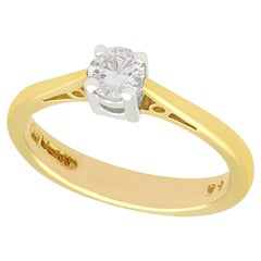 1994 Diamond Yellow Gold Solitaire Engagement Ring