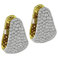 Diamond Yellow Sapphire Gold Earrings