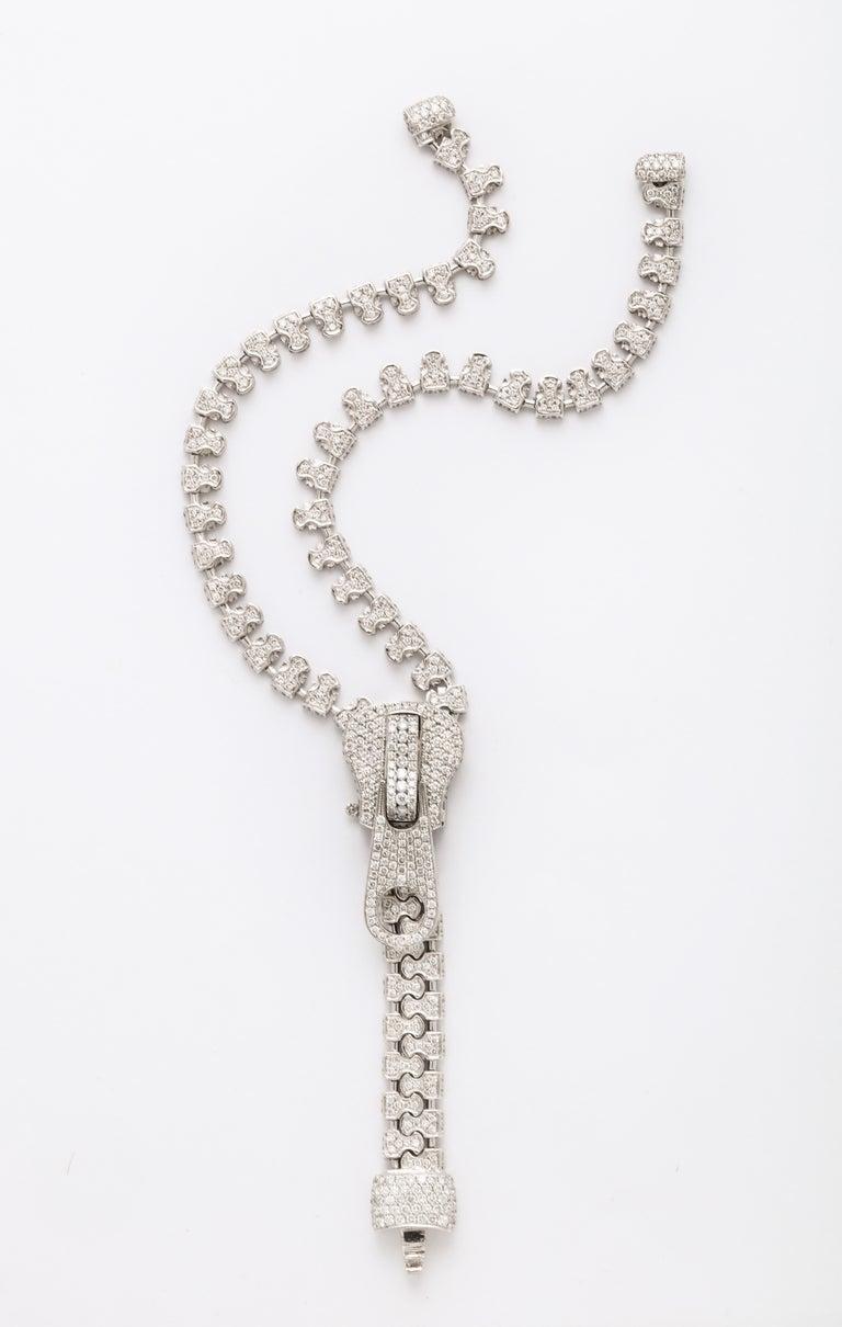 Diamond Zipper Bracelet In Excellent Condition For Sale In Bal Harbour, FL