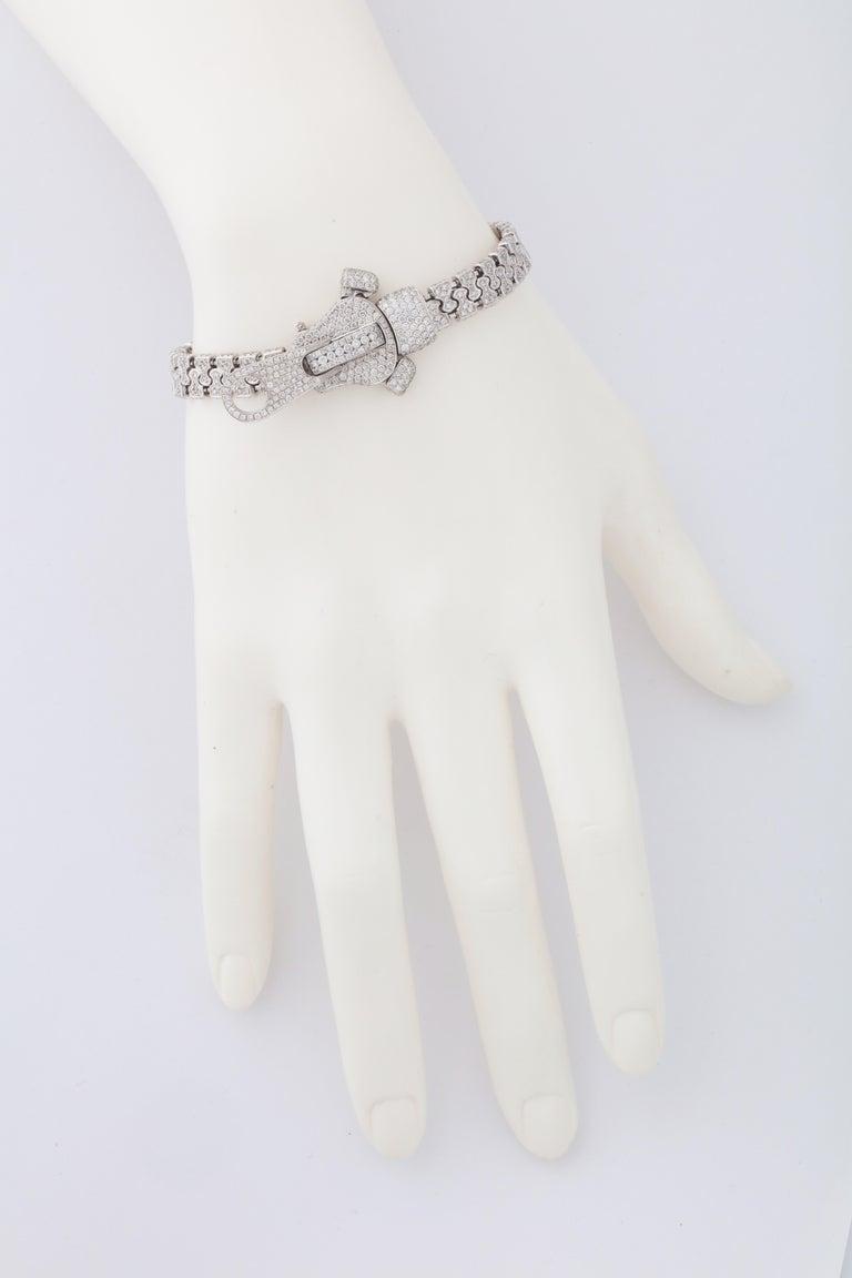 Diamond Zipper Bracelet For Sale 1