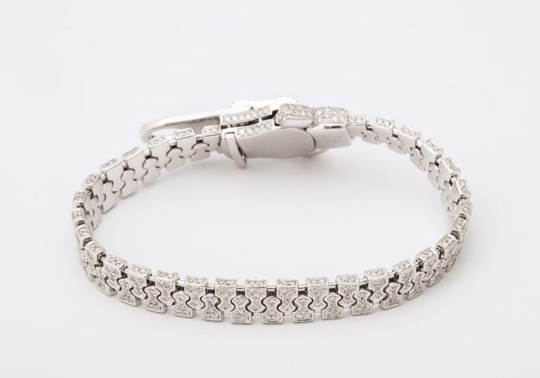Diamond Zipper Bracelet For Sale 5