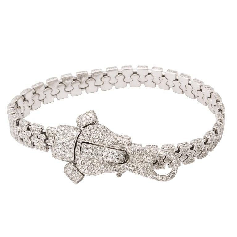 Diamond Zipper Bracelet For Sale