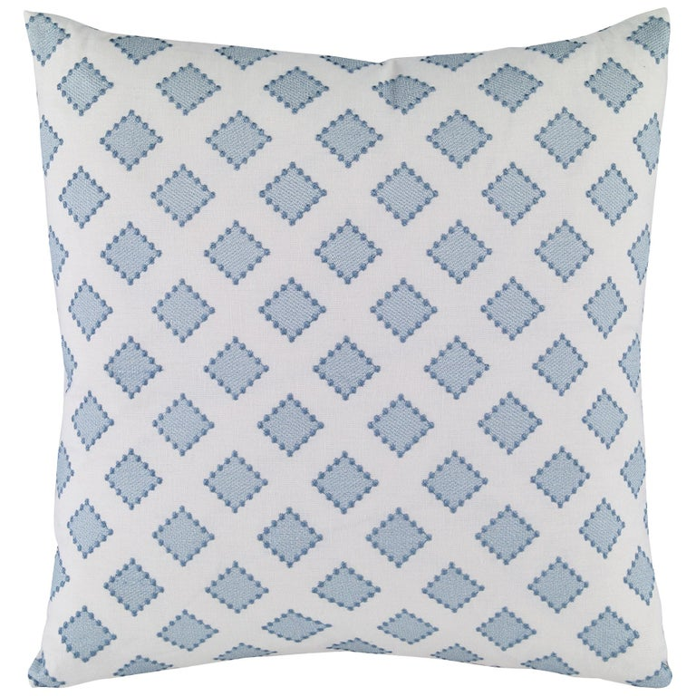 Diamondots Pillow in Turquoise by CuratedKravet For Sale