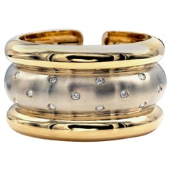 Diamonds 18 Karat Gold Cuff Bracelet