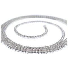Diamonds 18 Karat Gold Tennis Necklace