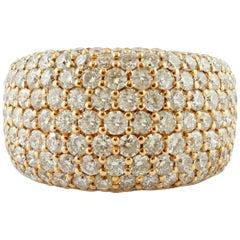 Diamonds, 18 Karat Rose Gold Band Ring
