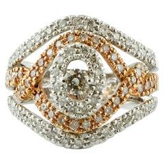Diamonds, 18 Karat White and Yellow Gold, Vintage Ring