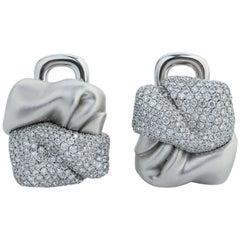 Diamonds 18 Karat White Gold Earrings