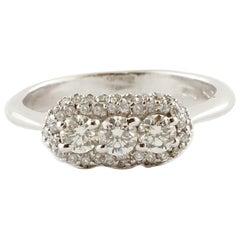 Diamonds, 14 Karat White Gold Engagement Ring