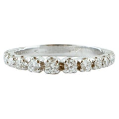 Diamonds, 18 Karat White Gold Eternity Engagement/Wedding Ring