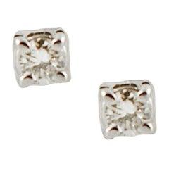 Diamonds, 18 Karat White Gold Light-Point Earrings