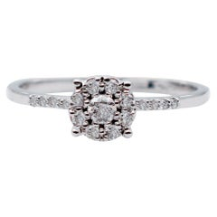 Diamonds, 18 Karat White Gold Ring