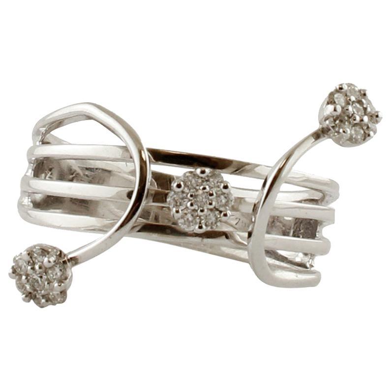 Diamonds, 18 Karat White Gold Ring