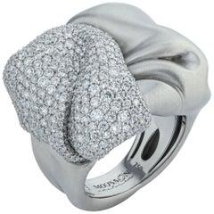 Diamonds 18 Karat White Gold Ring