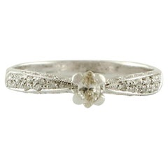 Diamonds, 18 Karat White Gold Solitary Ring
