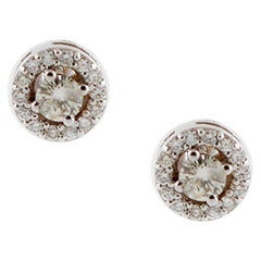 Diamonds 18 Karat White Gold Stud Earrings