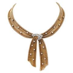 Diamonds, 18 Karat Yellow Gold Necklace