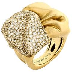 Diamonds 18 Karat Yellow Gold Ring